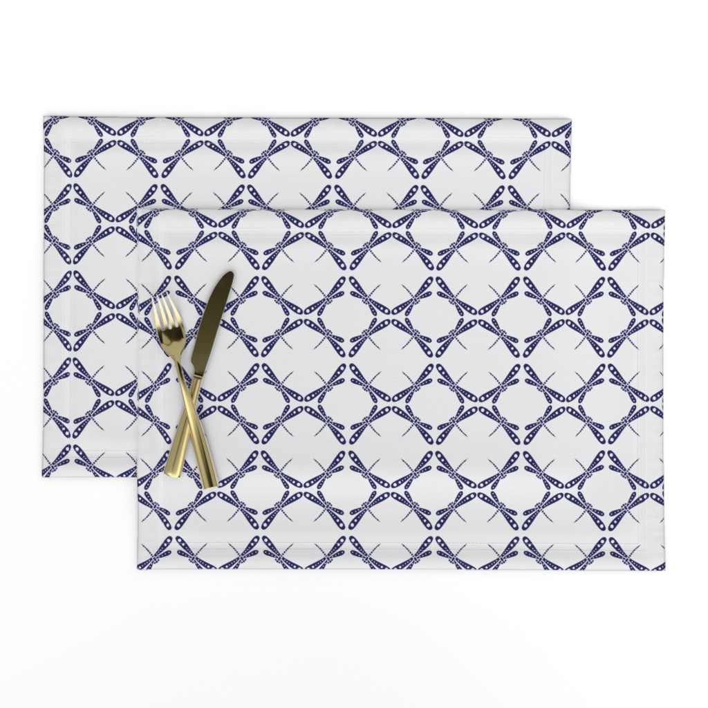 Lamona Cloth Placemats featuring Dragonfly Dance -  Dark Blue © Kristopher K 2009 by kristopher_k