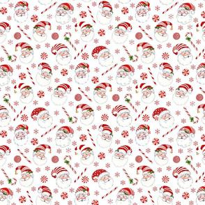 Peppermint Santas Pattern