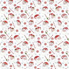 Peppermint Santas with gray snowflakes-small