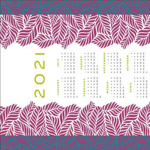 ferny leaves calendar towel - full yard