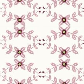 Pink and Mauve Vine Floral