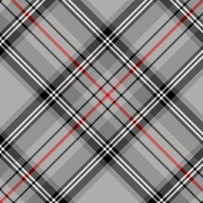 """Glen Moy tartan, red stripe, 6"""" diagonal"""