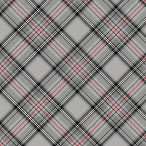"""Glen Moy tartan, red stripe, 3"""" diagonal"""