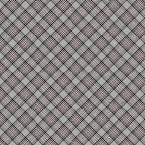"""Glen Moy tartan, red stripe, 1"""" diagonal"""