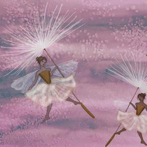 Dandelion Fluff Fairy in Rose