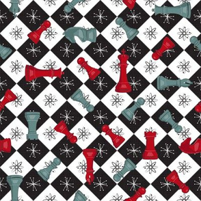 Atomic Age Chess- Red Teal Black White-01