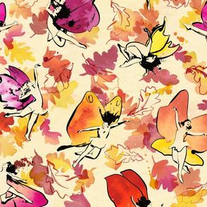 Dancing Autumn Fairies
