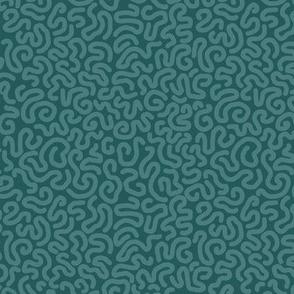 vermicular lines pine on dark green medium