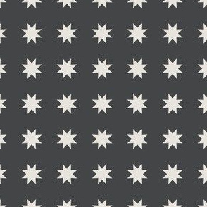 Abstract Mid century modern pattern. Geometry Grey. Stars