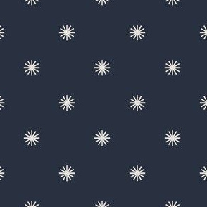 Abstract Mid century modern pattern. Geometry Navy Blue. Stars
