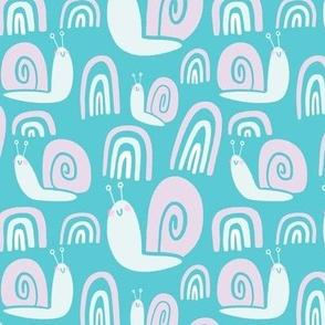Rainbow Snails - Pink & Blue