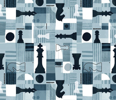 Abstract chess set