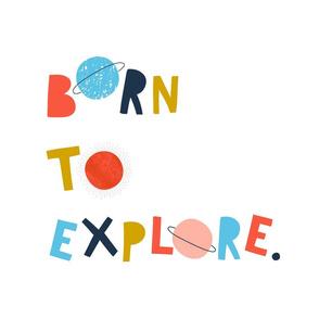 Born to Explore Tea Towel Wall Art
