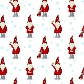 Cute gnomes santa claus christmas pattern