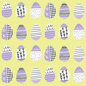 Pattern Eggs on Lemon Yellow