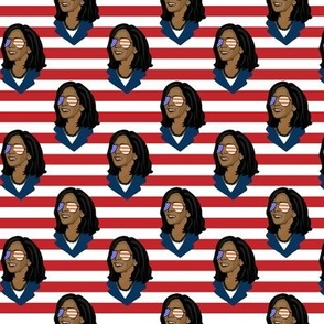 Kamala Harris - Stripes - Small