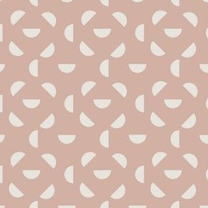 Abstract Mid century modern pattern. Geometry Dusty pink. Circle