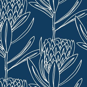 Protea Large - Navy