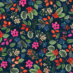 Holly-day pattern - dark