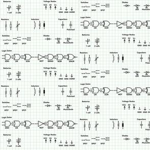 Micro Circuit Logic Design Symbols