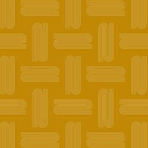Abstract Mid century modern pattern. Geometry Ochre Mustard Yellow.  Arch Lines