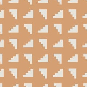 Abstract Mid century modern pattern. Geometry Dusty pink. Stairs