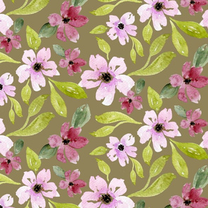 Juliana Floral in taupe