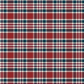 Plaid Red and Blue Small