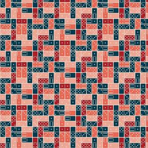 Domino Blue Orange Pink Small