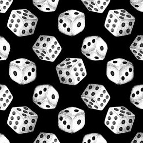 Nice Dice - black and white on black