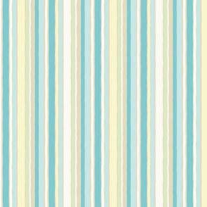aqua pastel stripes vertical
