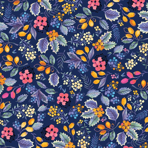 Holly-day pattern - blue