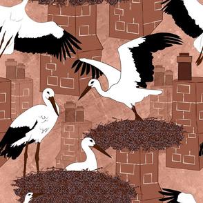 Storks (brown)