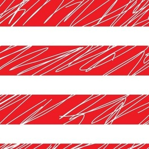 1,5´´ Punk stripes Red and White