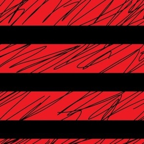 1,5´´ Punk stripes Red and Black