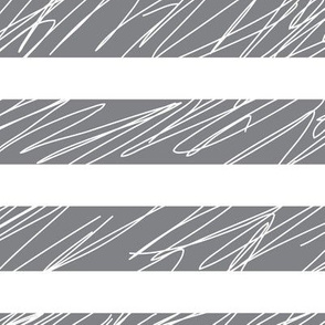 1,5´´ Punk stripes Gray and White