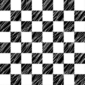 1´´ Check structured Black and White