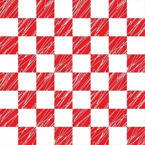 1´´ Check structured Red and White