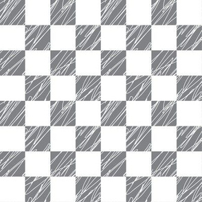 1´´ Check structured Gray and White