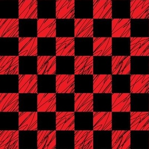 1´´ Check structured Black and Red