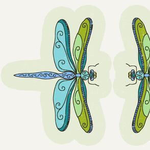 dragonfly pillow fat quarter