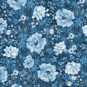 Large Blues Floral