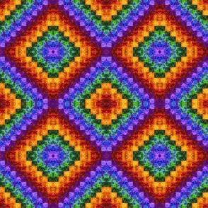 Rainbow Diamonds Quilt