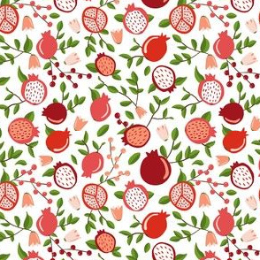 POMEGRANATE FLORAL SMALL