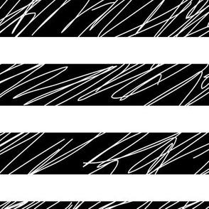 1,5´´ Punk stripes Black and White