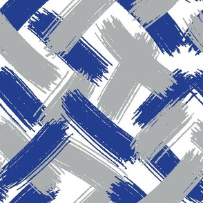 Blue and Silver Brush Strokes