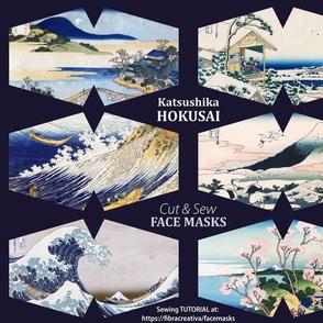 Hokusai Face Masks Great Wave Mount Fuji