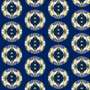 FAIRY TALE HEARTS PATTERN ROUND REPEAT BLUE  LEMON