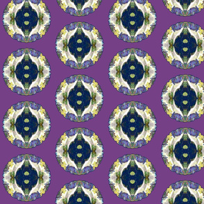 FAIRY TALE HEARTS PATTERN ROUND REPEAT PURPLE LEMON