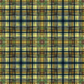 FAIRY TALE HEARTS PATTERN PLAID 3  LEMON